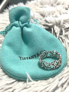 Tiffany & Co Paloma Picasso Loving Heart band ring in sterling silver size 6 #TiffanyCo #Band