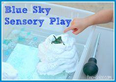 blue sky sensory play from twodaloo