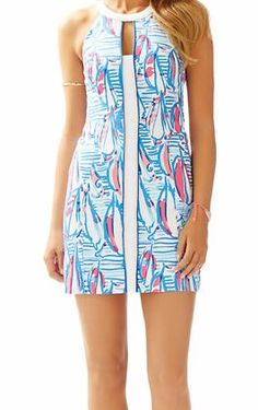 Lilly Pulitzer Pearl Shift in Red Right Return