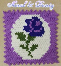 This Pin was discovered by Rey Crochet Blocks, Crochet Squares, Crochet Granny, Crochet Motif, Crochet Designs, Knit Crochet, Puff Stitch Crochet, Crochet Stitches, Rugs And Mats