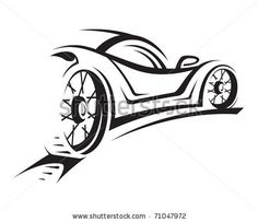 Modern super car, sports car vector silhouettes, outlines