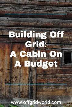 Depending on whether you're building your cabin on a permanent foundation or placing it on concrete blocks or stone pillars will have a large impact on how much you will spend to build your own cabin off grid. #offgrid #cabin #offgridcabin #diycabin #cabinbuild Homestead Survival, Wilderness Survival, Survival Skills, Mini Cabins, Log Cabins, Build Your Own Cabin, Self Sufficient Homestead, Building A Cabin, Diy Cabin