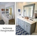 Sara Davis (@sincerelysarad) | I had fun transforming my boys' bathroom for @leviton Renu Challenge! I was inspired by Renu's rich navy outlets and light switches. Check out the blog for more details! (Link is in my profile.) #leviton #bathroominspiration #homedecor #sincerelysarad | Intagme - The Best Instagram Widget