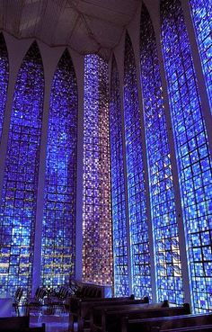 Dom Bosco Cathedral in Brasilia, Brazil                                                                                                                                                                                 More