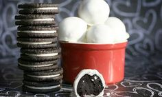 Oreo balls. Super-duper easy party-pleaser.