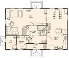 Arnestad, første etasje, Ok planløsning 1 etg. minus vindfang, endra så det blir plass til bad vaskerom og bod. Floor Plans, Houses, Dining, Dinner, Food, Homes, Computer Case, Floor Plan Drawing, Home
