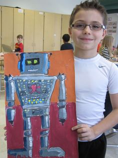 Robot Paintings - 3rd Grade