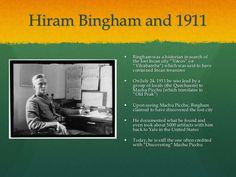 hiram bingham machu picchu | Hiram Bingham the Explorer of Machu Picchu