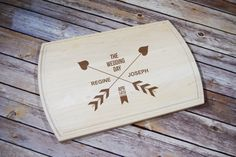 Custom Cutting Board Personalized Letter by TimelessTreasuresUSA