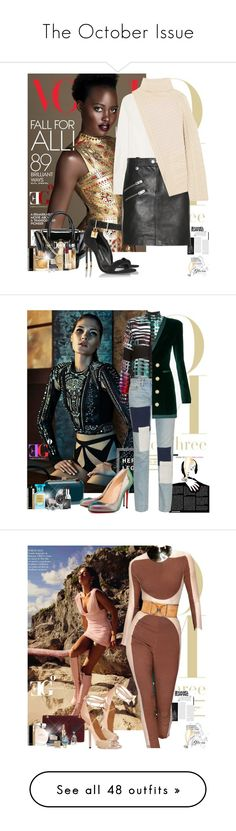 """""""The October Issue"""" by eleonoragocevska ❤ liked on Polyvore featuring Versace, Chloé, Coach, Chanel, Joseph, Tom Ford, Rolex, Burberry, Yves Saint Laurent and Sergio Rossi"""