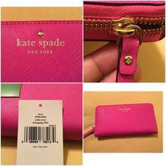 KATESPADE WALLET PINK KATESPADE WALLET PINK/ 12 slot card holder/ outside pocket/ inside coin holder! NWT kate spade Bags Wallets