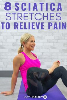 Sciatica is pain tingling or numbness that comes from the irritation of the sciatic nerve usually occurring on only one side of the body. Sciatic Nerve Exercises, Sciatic Nerve Relief, Sciatic Pain, Back Pain Exercises, Yoga Exercises, Morning Exercises, Stomach Exercises, Sciatic Nerve Damage, Yoga For Sciatica