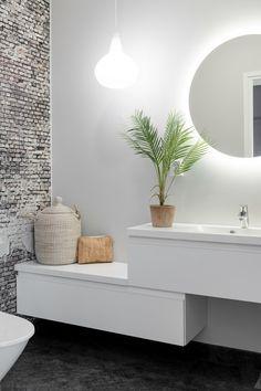 Interior Design Living Room, Living Room Decor, Bedroom Decor, Wall Decor, Interior Paint, Style At Home, Diy Bathroom Decor, Bathroom Wall, Bathroom Interior