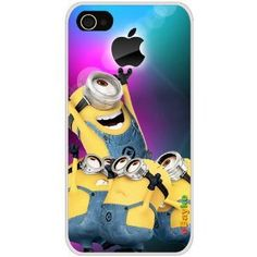 4GDCM-05W iPhone 4S 4G iPhone4 At Sprint Verizon Funny Cartoon Despicable Me Minions Hard Case Cover with eBayke Logo