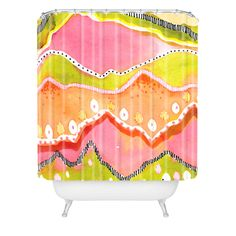 CayenaBlanca Coral Landscape Shower Curtain | DENY Designs Home Accessories
