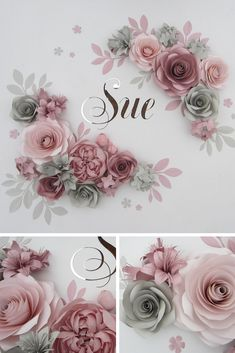 Paper Flowers Wall, Nursery Wall Decor, Nursery Name Sign, Large Paper Flowers Backdrop Paper flowers for nursery wall decor will turn the room of your little princess into blooming garden. Large Paper Flowers, Paper Flowers Wedding, Paper Flower Wall, Paper Flower Backdrop, Flower Wall Decor, Flower Decorations, Paper Flower Garlands, Wall Flowers, Tissue Paper Flowers