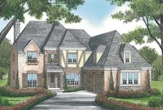 House Plan 3323-00382 - European Plan: 3,877 Square Feet, 4 Bedrooms, 4.5 Bathrooms