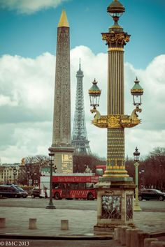 Place de la Concorde. Ironic name since this is where Louis XVI and Marie were guillotined.
