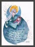 Plakat z modlitwą do Anioła Stróża