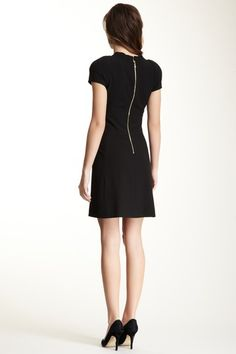 Cap Sleeve Banded Waist Dress