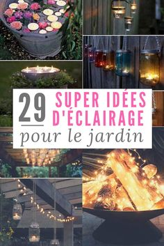 29 Great Lighting Ideas For The Garden (Cheap And Easy To Do). - outdoor lighting ideas for landscaping the garden for summer evenings You are in the right place abo - Garden Party Decorations, Garden Lamps, Garden Art, Easy Garden, Rose Trees, Deck Lighting, Lighting Ideas, Outdoor Projects, Garden Furniture