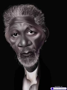Morgan Freeman caricatures - www.remix-numerisation.fr - Rendez vos souvenirs durables ! - Sauvegarde - Transfert - Copie - Restauration de bande magnétique Audio