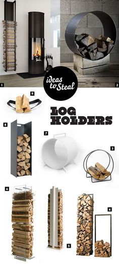 Vedkurver - Modern and cool log holders - http://www.diyhomeproject.net/vedkurver-modern-and-cool-log-holders