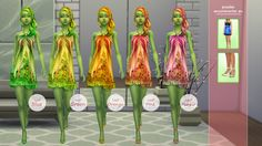 Collection 007 (Leaf) Los Sims 4