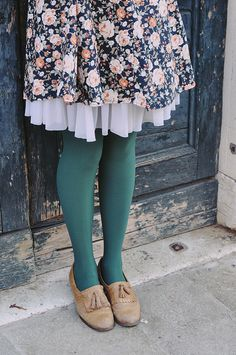 Those tights! Also, must add tulle underneath shorter dresses