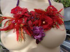 collier plastron la passion du rouge