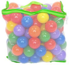 100 Wonder Playball Non-Toxic Crush Proof Quality Balls w/ Mesh Tote. Set of 100 Wonder Playballs in 6 vibrant colors: Red, Orange, Yellow, Green, Blue and Purple. Comes with durable and environmentally safe mesh bag perfect for storage and portability. Each ball measures 6.5cm (2.5 inches) designed to fit a child's hand without being too big or too small. Made from non-toxic material, non-recycled & non-PVC plastic, BPA free, phthalate free and lead free. Crush-proof Wonder Playballs are...