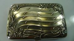 ANTIQUE ART NOUVEAU RARE SILVER HINGED LID CIGARETTE BOX/CASE GERMANY HALLMARKED #Germany