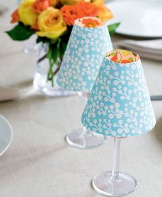 DIY candle lamps: These cute little 'lamps' can brighten up your table – perfect for a Mother's Day brunch or dinner party.