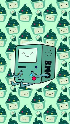 Bmo is so cute! You can use this and many others in my board 'Adventure Time Wallpaper' as phone wallpapers! Kawaii Wallpaper, Tumblr Wallpaper, Cartoon Wallpaper, Cool Wallpaper, Wallpaper Backgrounds, Green Wallpaper, Fabric Wallpaper, Disney Wallpaper, Adventure Time Cartoon