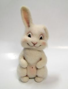 """MASTER CLASS: """"BUNNY 'PONECHKA'"""" by ELENA SMIRNOVA - (utichka) -- Translated in January, 2012 from her Russian book, """"WOOL TOYS: STEP-BY-STEP FELTING TECHNIQUES"""". [M/a; M/c]"""