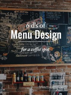Creating a coffee shop menu