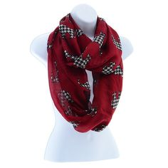Houndstooth Scarf Alabama Roll Tide $12.99 @ www.streetsoforleans.com