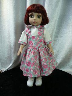 Robe rose et chemisier blanc  assorti + panty  pour  poupée Patsy  Doll TONNER outfit de la boutique dollofdawn sur Etsy