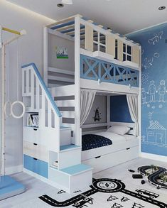 Bed For Girls Room, Cool Kids Bedrooms, Awesome Bedrooms, Girl Room, Baby Bedroom, Girls Bedroom, Bedroom Decor, Teen Bedroom Designs, Kids Room Design