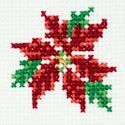 Small Poinsettia cross stitch chart