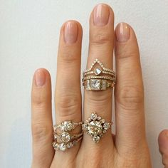 Gold engagement rings~