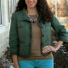 The Limited Tweed Jacket The Limited Tweed Jacket in a beautiful emerald green. Perfect condition. The Limited Jackets & Coats