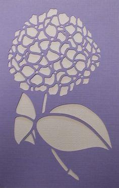 Plantilla de Hortensia por kraftkutz en Etsy Más