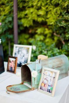 Vintage Mailbox for Cards / http://www.himisspuff.com/mailbox-wedding-decor-ideas/7/