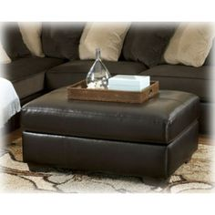 Ashley Furniture Gemini Chocolate Oversized Accent Ottoman at Big Sandy Superstore