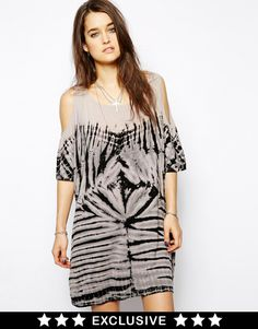 Religion Tye Dye Cold Shoulder Dress Exclusive To Asos