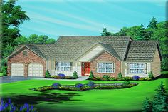 Cape Cod Home Plan: OAKRIDGE       2,286 Square Feet of Living Area     3 Bedroom     2.5 Bathrooms