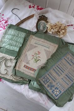Antique needlework sample book