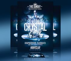 Crystal Bottle Party | Psd Flyer Template by RomeCreation