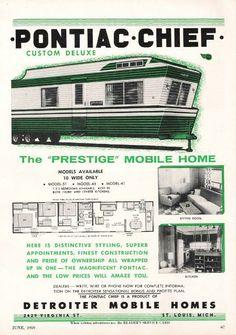 Vintage Literature Reproductions : 1959 Pontiac Chief Mobile Home ~ RV ...